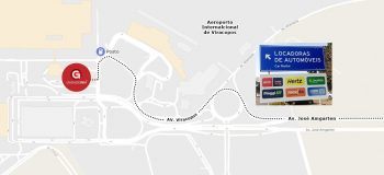 Estacionamento próximo ao Aeroporto de Viracopos em Campinas